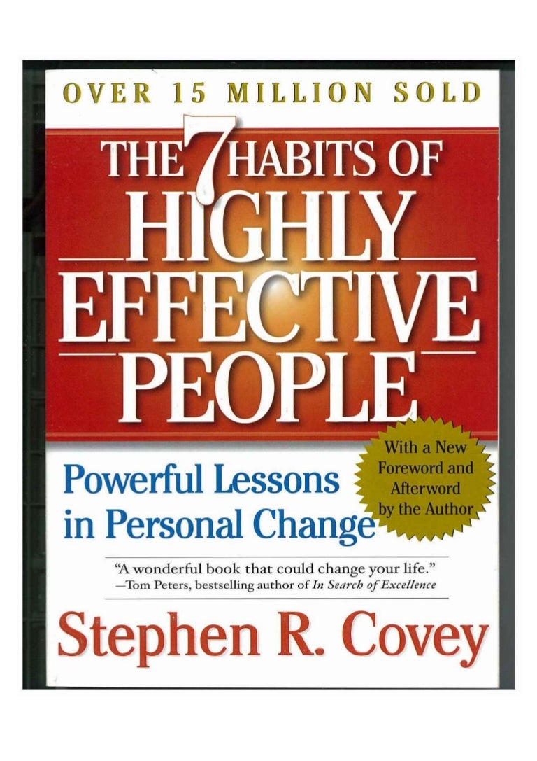 essay steven covey  essay the seven habits of highly effective people personal