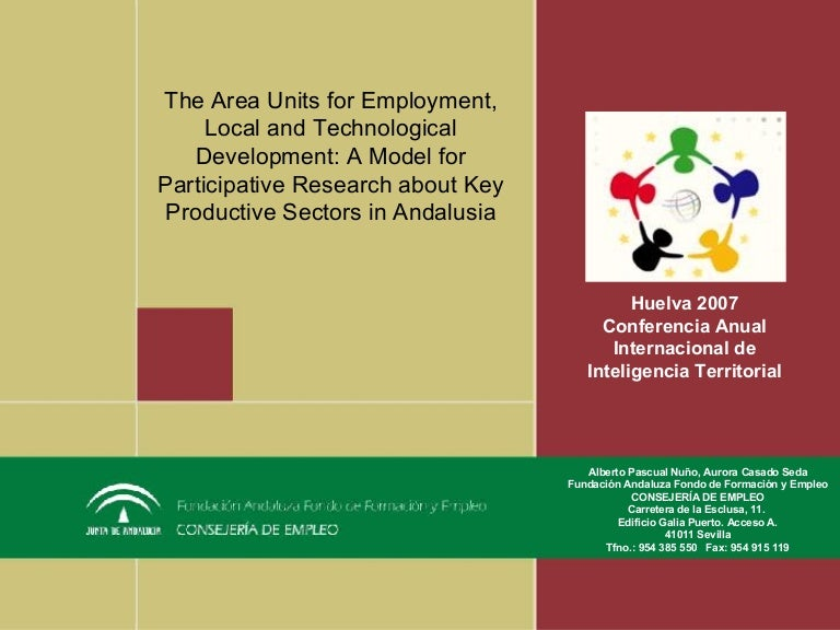 the area units for employment  local and technological