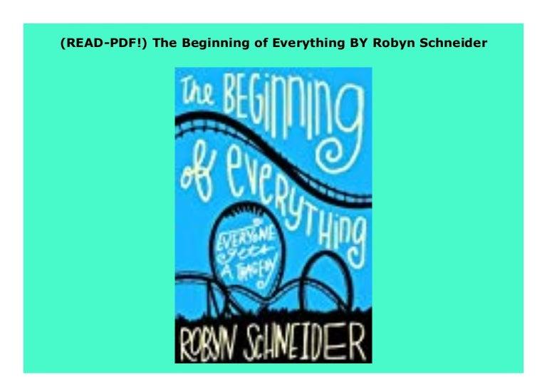 the beginning of everything robyn schneider pdf free download