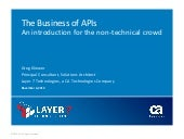 The Business of APIs, an Introduction for Everyone Else
