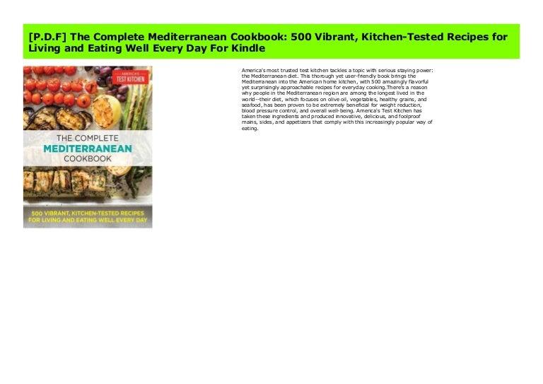P D F The Complete Mediterranean Cookbook 500 Vibrant Kitchen Tes