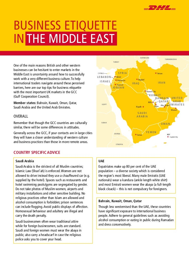 The DHL Guide to Middle East Business Etiquette
