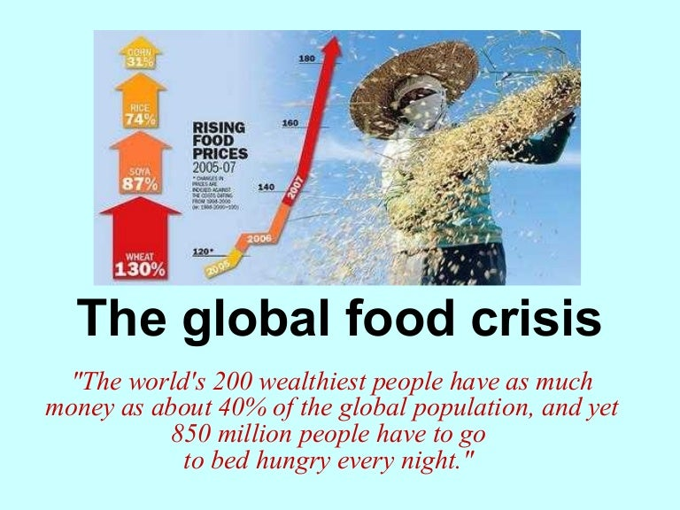 What are the causes of food shortages?