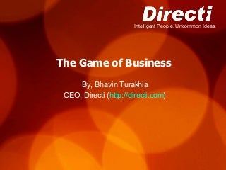 The Game of Business by Bhavin Turakhia