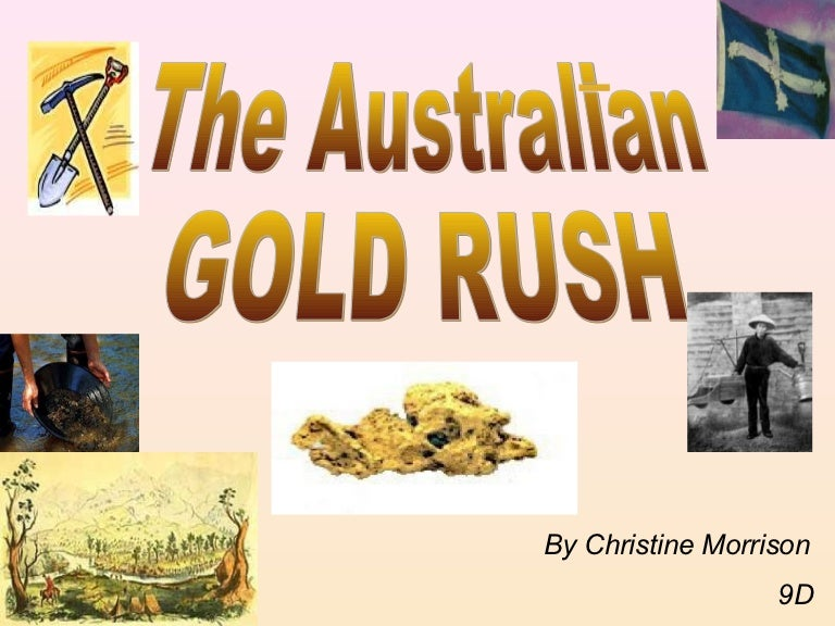 Map Of Australia Gold Rush.The Gold Rush