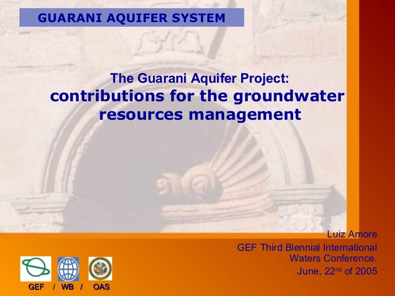 The guarani aquifer project contributions for the groundwater resour publicscrutiny Images