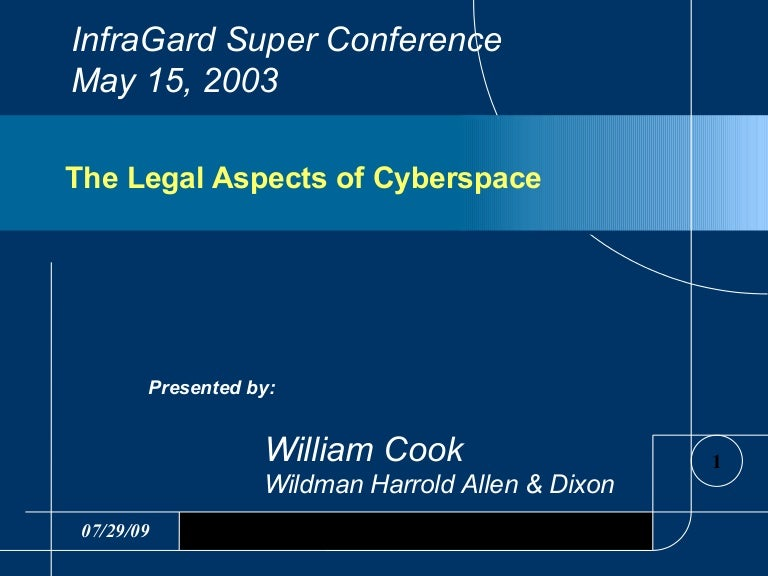 what are some legal issues in cyberspace