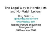 The Legal Way to Handle I-9s and No-Match Letters