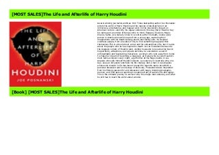 [MOST SALES]The Life and Afterlife of Harry Houdini