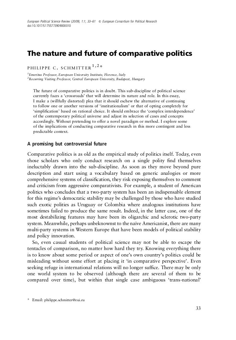 the nature and future of comparative politics