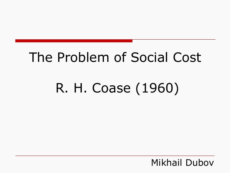 problem of social cost slideshare