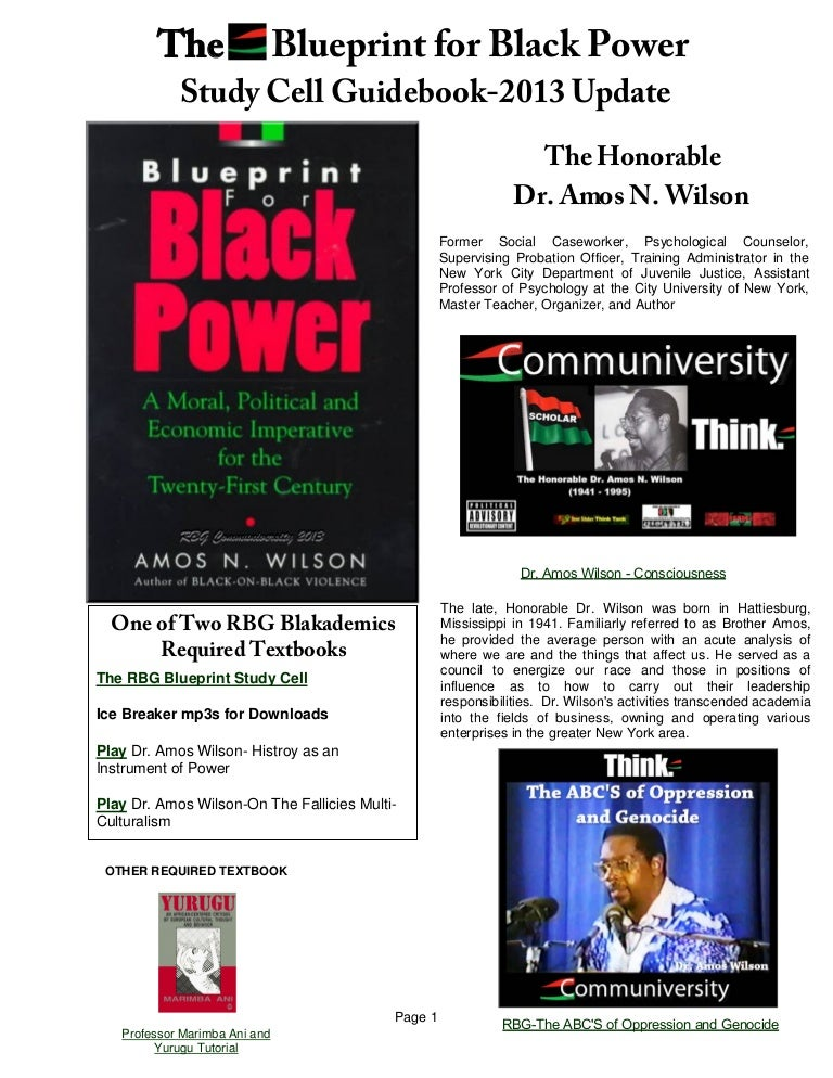 The rbg blueprint for black power study cell guidebook may 2013 update malvernweather Gallery