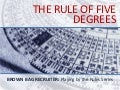 The Rule of Five Degrees