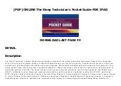 [PDF] ONLINE The Sleep Technician's Pocket Guide FOR IPAD