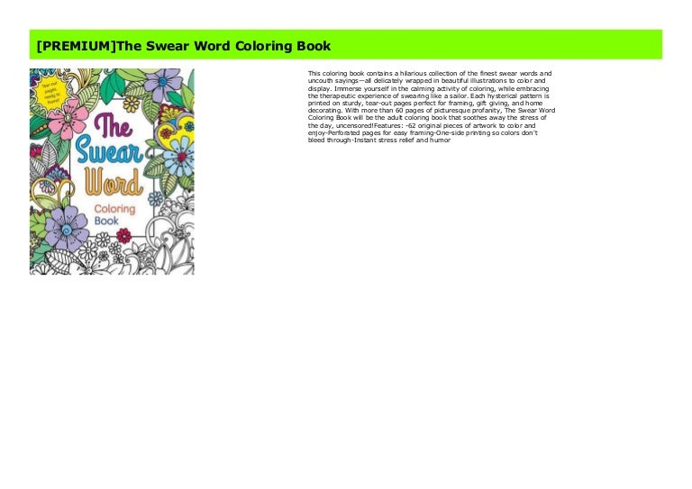 PREMIUM]The Swear Word Coloring Book