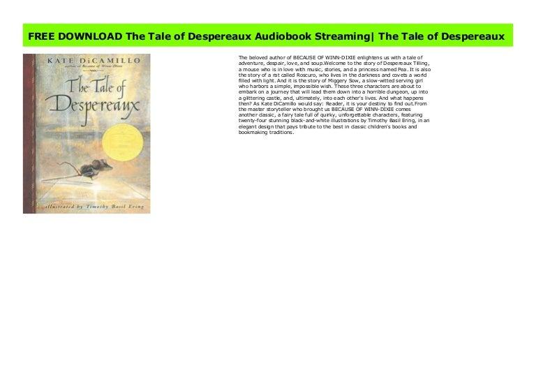 the tale of despereaux ebook download free