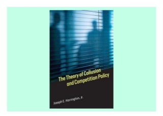 [Free] Donwload The Theory of Collusion and Competition Policy - Populer ebook