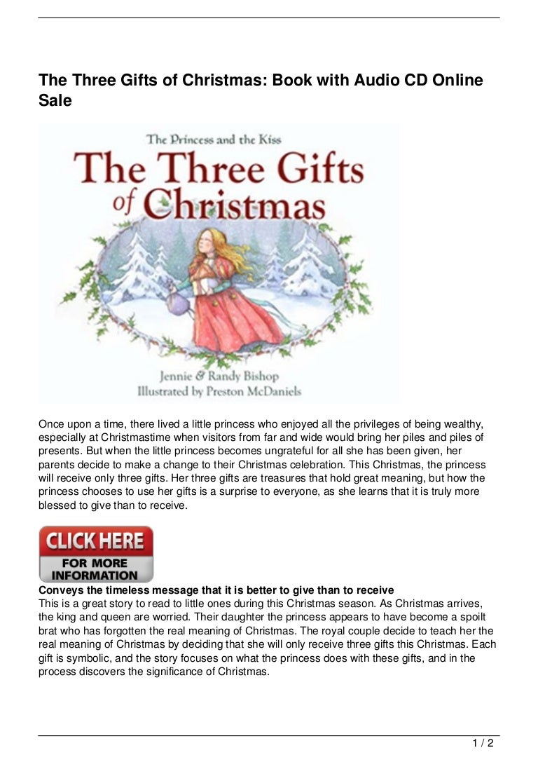 The Three Gifts of Christmas: Book with Audio CD Online Sale
