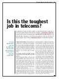 Ericsson Business Review: Is this the toughest job in telecoms?