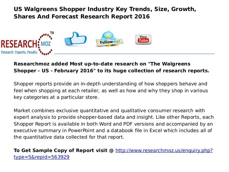 US Walgreens Shopper Industry Key Trends, Size, Growth, Shares And Fo…