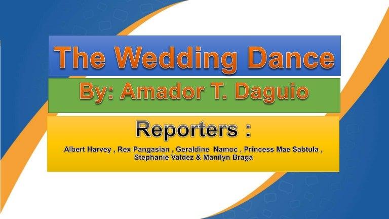 The Wedding Dance By Amador T Daguio