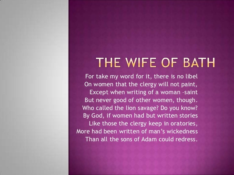 the wife of bath powerpoint