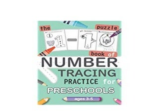 BOOK_TEXTBOOK LIBRARY The 1 10 Puzzle Book of NUMBER TRACING Practice for Preschools ages 3 5 Puzzle game for practice number for kids learning number and Fun Together