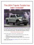 The 2014 Toyota Tundra has been revealed!