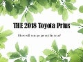 The 2018 Toyota Prius is at Toyota of Orlando