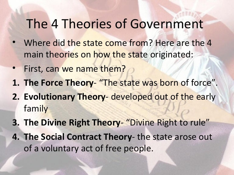 The 4 Theories Of Government