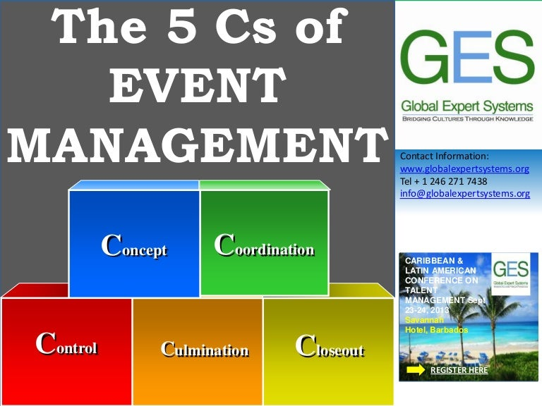 The 5 Cs of Event Management