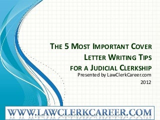 District court clerkship cover letter