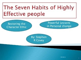 The 7 habits of highly effective people slideshare-31-10-2010