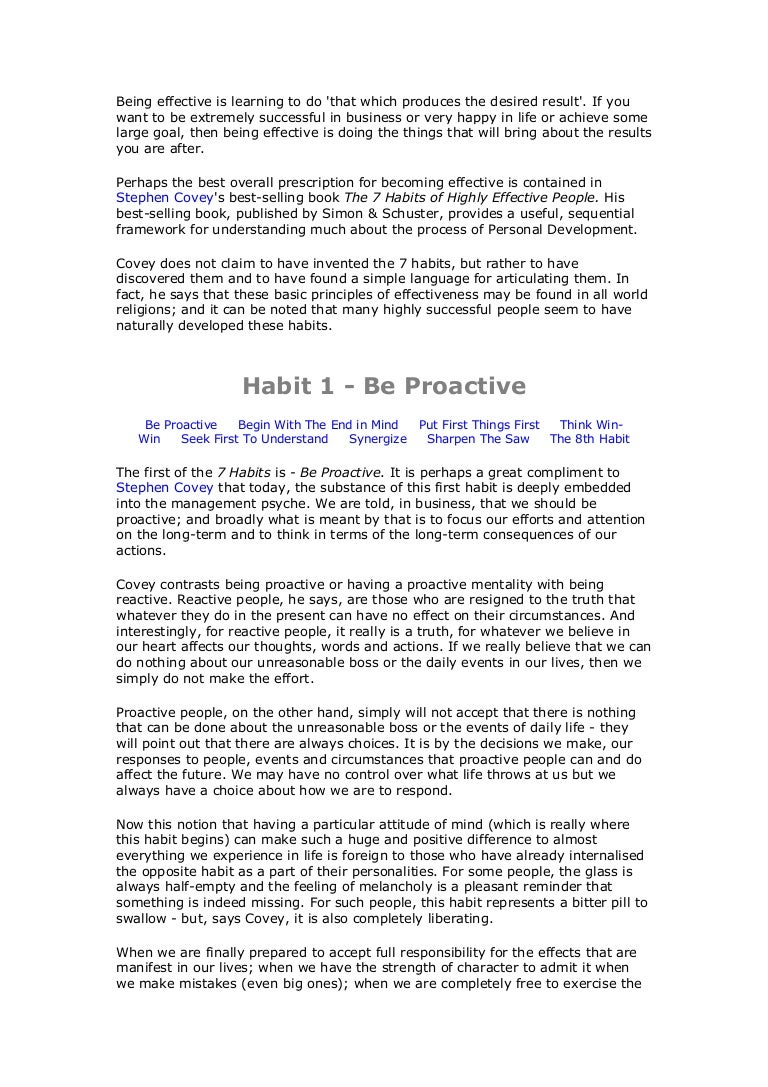 the habits of highly effective people and the th