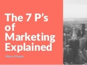 The 7 P's of Marketing Explained