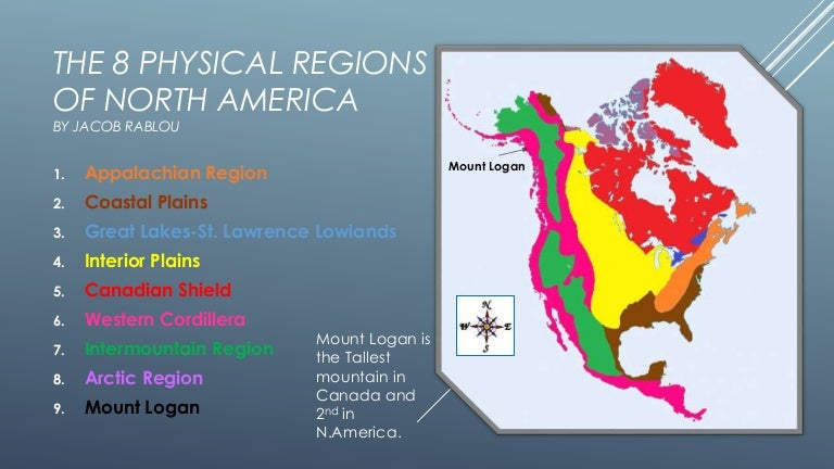 The Physical Regions Of North America - Us physiographic regions map