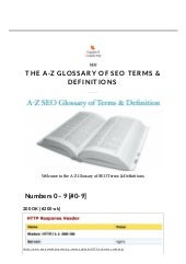 The A-Z Glossary of SEO Terms & Definitions - Equinet Academy