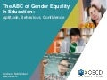 The ABC of Gender Equality in Education - Aptitude, Behaviour, Confidence