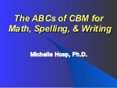 The abc's of cbm for maths, spelling and writing