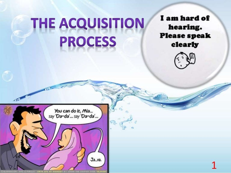 The Acquisition Processtelegraphic Speech Example Stages Of