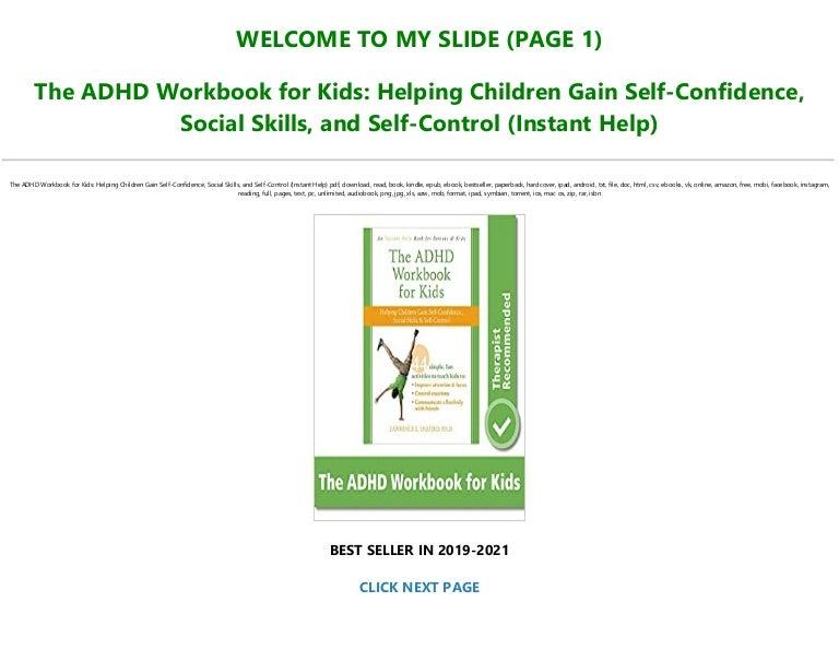 Free Read Book [PDF] The ADHD Workbook for Kids: Helping Children Gain Sel…