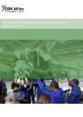 The African & Nigerian Automotive Industry - Study by XCOM Africa