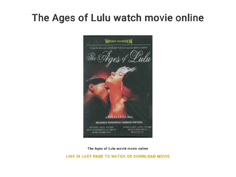 The age of lulu watch online