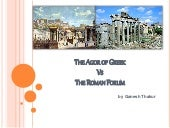 The agor of greek vs the roman forum