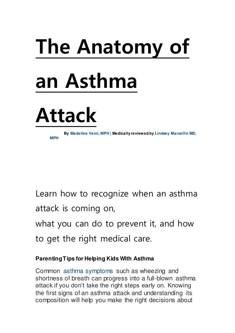The anatomy of an asthma attack