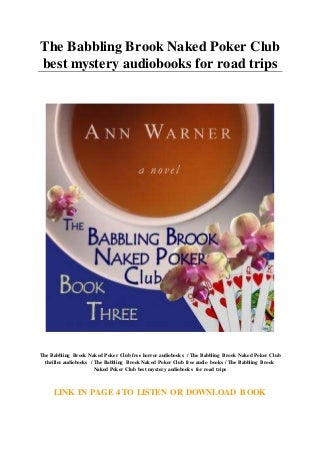The Babbling Brook Naked Poker Club best mystery audiobooks for road trips