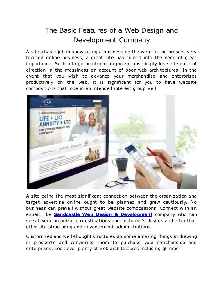 The Basic Features Of A Web Design And Development Company