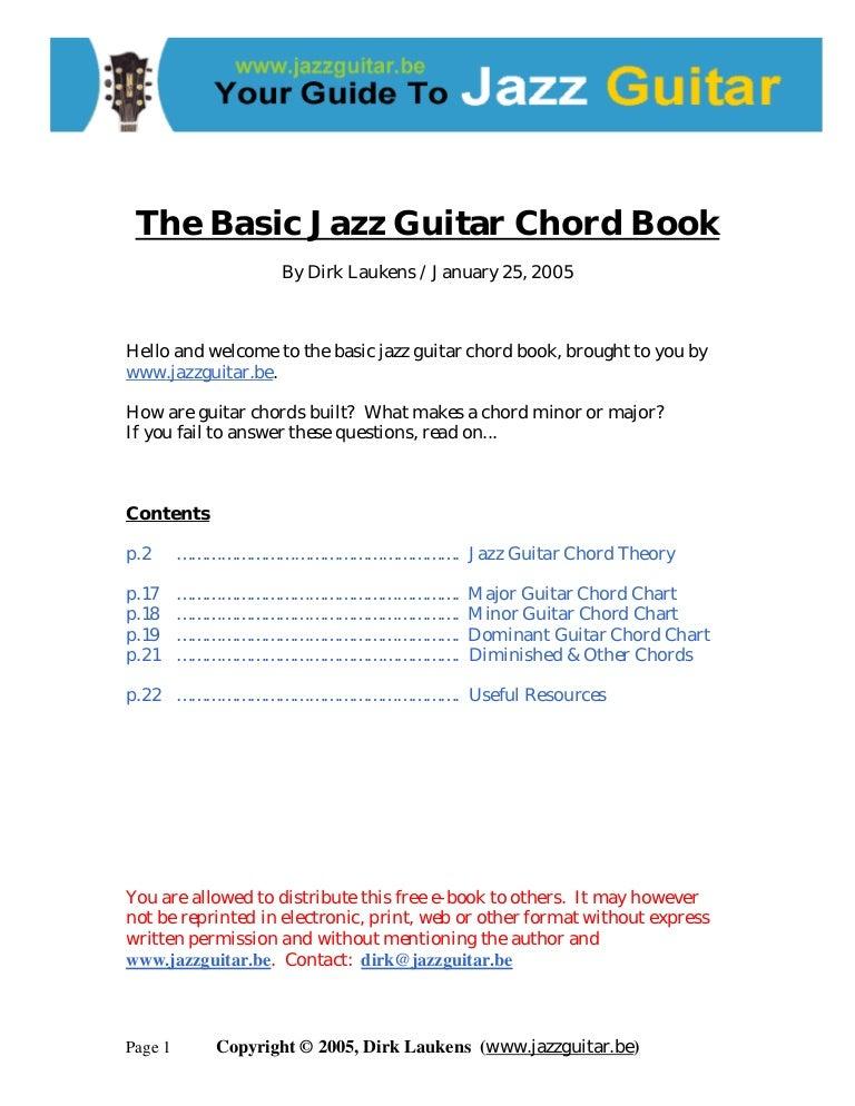 The Basic Jazzguitarchordbook