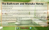 The bathroom and manuka honey