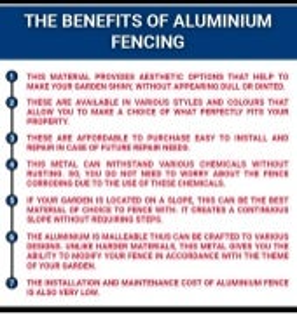 The Benefits of Aluminium Fencing